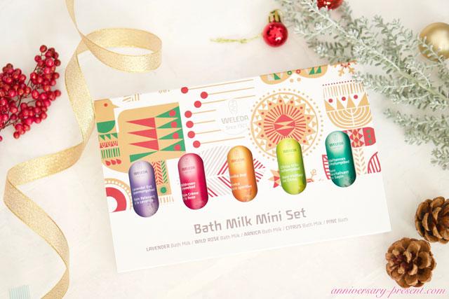 おしゃれなクリスマスプレゼントに!ヴェレダのバスミルクセット